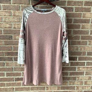She + Sky Long Sleeve Dress/Tunic